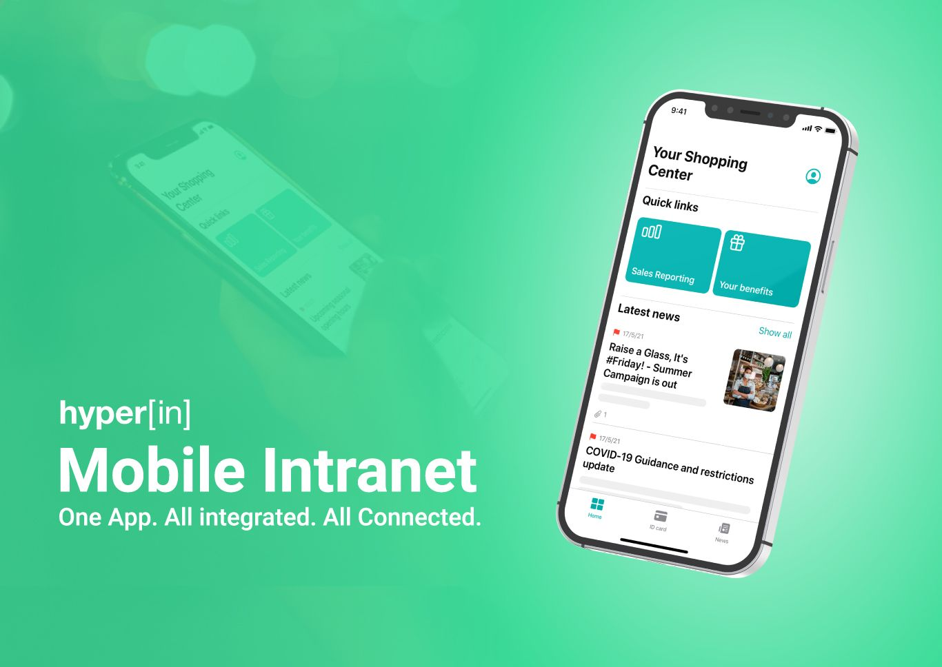 The New HyperIn Mobile Intranet App brings the digital workplace to your fingertips.